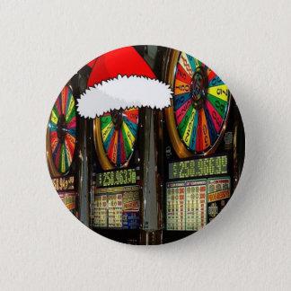 Badge Rond 5 Cm Fentes de Noël de Las Vegas