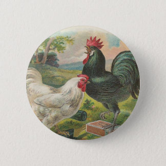 Badge Rond 5 Cm Ferme vintage