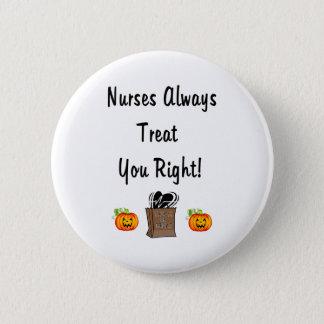 Badge Rond 5 Cm Festin de Halloween pour des infirmières