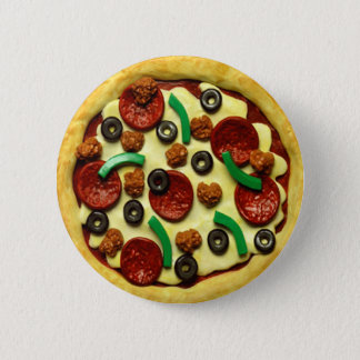 Badge Rond 5 Cm Fête d'anniversaire de pizza d'enfants