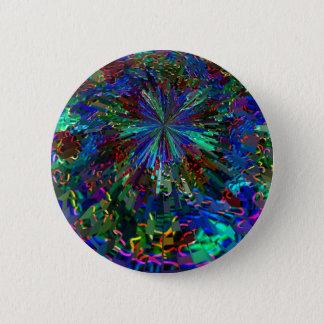 Badge Rond 5 Cm Feux d'artifice BLEUS d'étincelle de Zinzelle