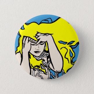 Badge Rond 5 Cm Fille blonde