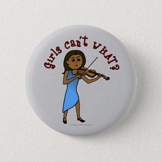 Badge Rond 5 Cm Fille foncée jouant le violon