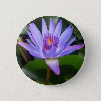 Badge Rond 5 Cm Fleur de Lotus