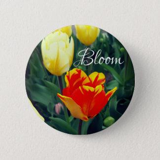 Badge Rond 5 Cm Fleur de tulipe