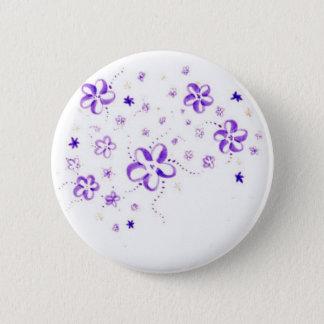 Badge Rond 5 Cm Fleurs
