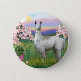Badge Rond 5 Cm Fleurs de lama et de ressort