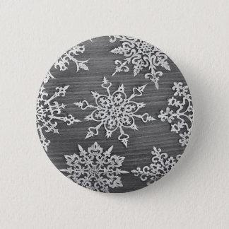 Badge Rond 5 Cm Flocons de neige