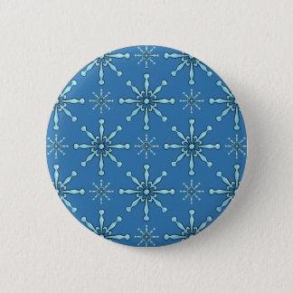 Badge Rond 5 Cm Flocons de neige peints