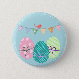 Badge Rond 5 Cm Floral de fête coloré de Pâques de ressort