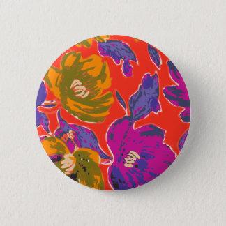 Badge Rond 5 Cm Floral décoratif