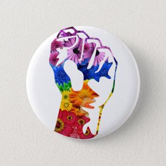 Badge Rond 5 Cm Flower power