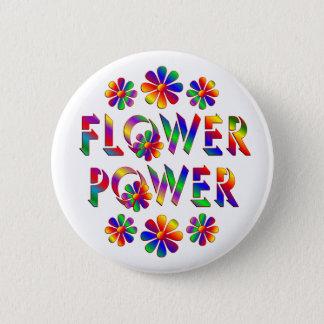 Badge Rond 5 Cm Flower power coloré par arc-en-ciel