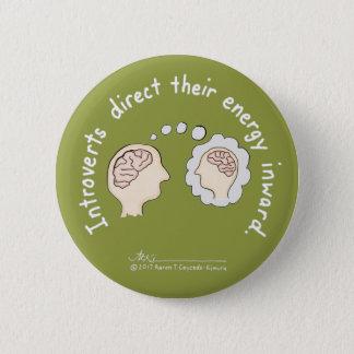 Badge Rond 5 Cm Fondements introvertis : Bouton centripète
