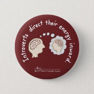 Badge Rond 5 Cm Fondements introvertis : Bouton centripète de