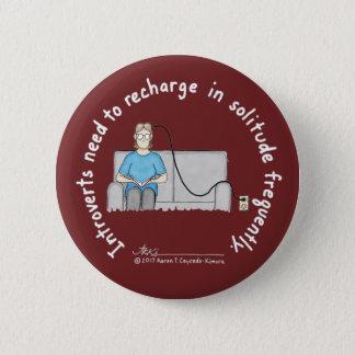 Badge Rond 5 Cm Fondements introvertis : Bouton de Bourgogne de