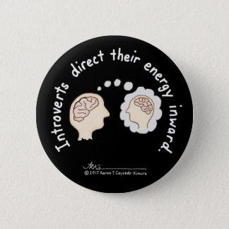 Badge Rond 5 Cm Fondements introvertis : Bouton noir centripète