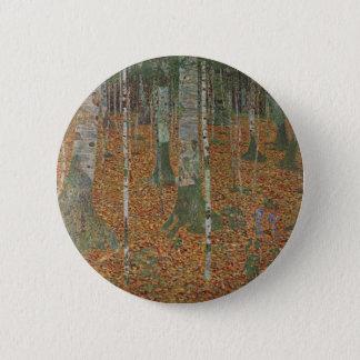 Badge Rond 5 Cm Forêt de bouleau par Gustav Klimt, art vintage