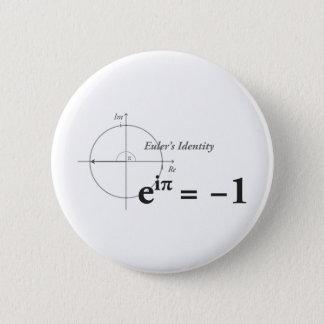 Badge Rond 5 Cm Formule de maths de l'identité d'Euler