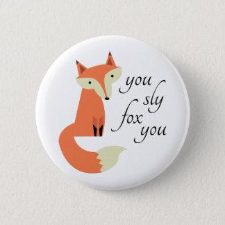 Badge Rond 5 Cm Fox de Sly