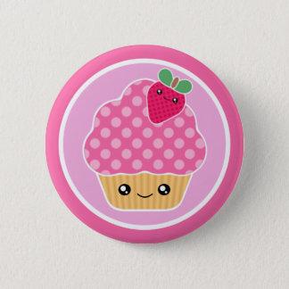 Badge Rond 5 Cm Fraise de petit gâteau de Kawaii