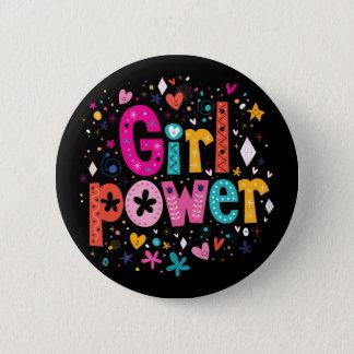 Badge Rond 5 Cm Frères du bouton | de fleur de puissance de fille