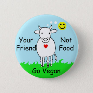 Badge Rond 5 Cm friend not food