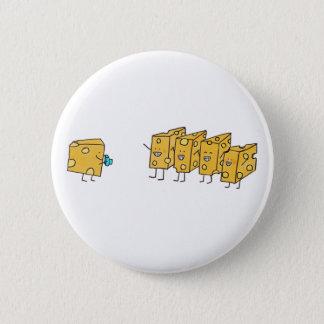 Badge Rond 5 Cm Fromage drôle de sourires indiquant le fromage