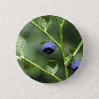Badge Rond 5 Cm Fruits de la myrtille européenne
