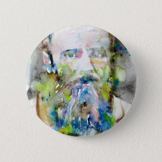 Badge Rond 5 Cm fyodor dostoevsky - portrait d'aquarelle