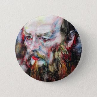 Badge Rond 5 Cm FYODOR DOSTOYEVSKY - aquarelle portrait.2