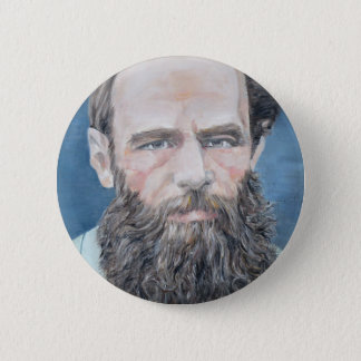 Badge Rond 5 Cm fyodor dostoyevsky - portrait d'huile