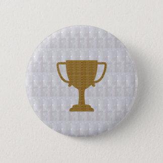 Badge Rond 5 Cm Gagnant blanc en cristal de l'arrière - plan