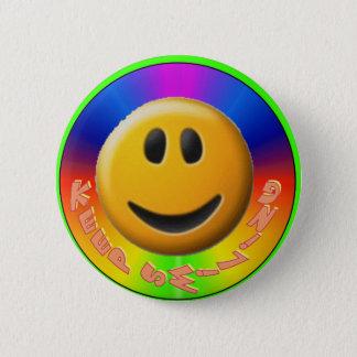 Badge Rond 5 Cm Gardez le Bouton-Smiley de sourire
