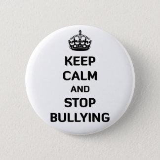 Badge Rond 5 Cm Gardez le calme et cessez l'intimidation