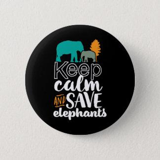 Badge Rond 5 Cm Gardez le volontaire d'amoureux des animaux