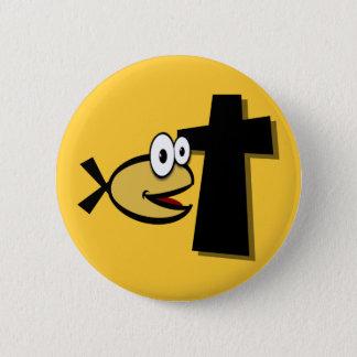 Badge Rond 5 Cm Gardez vos yeux sur la croix