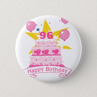 Badge Rond 5 Cm Gâteau d'anniversaire de 96 ans
