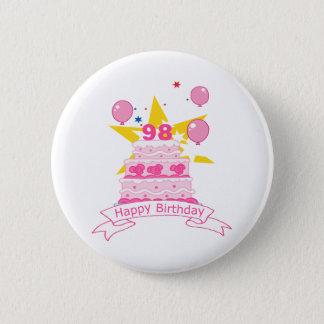 Badge Rond 5 Cm Gâteau d'anniversaire de 98 ans