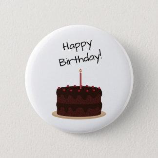 Badge Rond 5 Cm Gâteau de chocolat de joyeux anniversaire