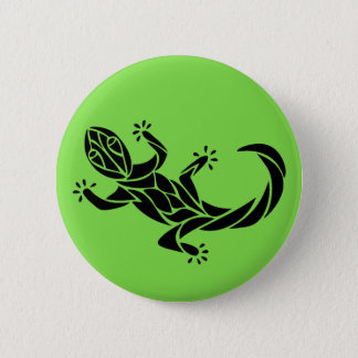 Badge Rond 5 Cm Gecko tribal