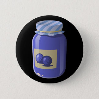 Badge Rond 5 Cm Gelée de myrtille de nourriture de problème