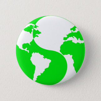 Badge Rond 5 Cm Globe de Yin Yang