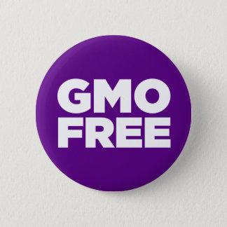 BADGE ROND 5 CM GMO LIBRE (POURPRE)