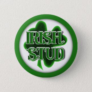 Badge Rond 5 Cm Goujon d'Irlandais du jour de St Patrick