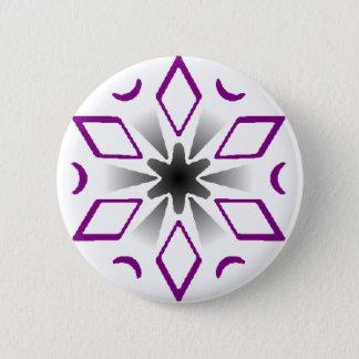 Badge Rond 5 Cm goupille asexuelle de flocon de neige de fierté