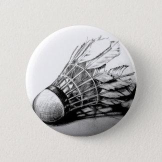 Badge Rond 5 Cm Goupille de bouton de volant de badminton