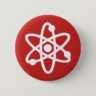 Badge Rond 5 Cm Goupille de la science d'atome