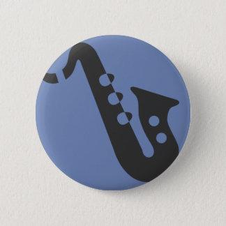 Badge Rond 5 Cm Goupille de saxophone
