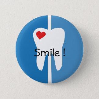 Badge Rond 5 Cm Goupille fraîche de nom d'hygiéniste dentaire de